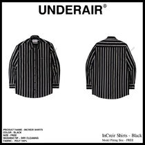 UNDER AIR Casual Style Unisex Street Style Shirts & Blouses