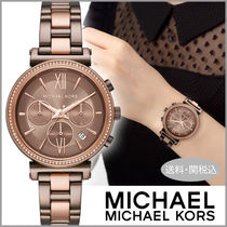 Michael Kors Casual Style Blended Fabrics Street Style Round