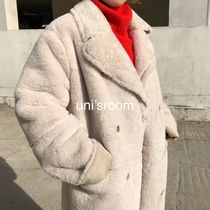 Faux Fur Plain Long Oversized Eco Fur Cashmere & Fur Coats