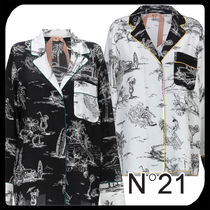 N21 numero ventuno Silk Long Sleeves Long Shirts & Blouses
