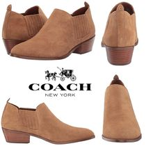 Coach Casual Style Suede Plain Block Heels Chelsea Boots