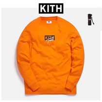 KITH NYC Crew Neck Pullovers Unisex Street Style Long Sleeves Plain