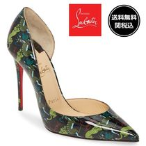 Christian Louboutin Casual Style Other Animal Patterns Leather Pin Heels