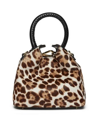 Leopard Patterns Casual Style 2WAY Leather Party Style