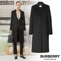 Burberry Wool Cashmere Plain Long Office Style Elegant Style Coats