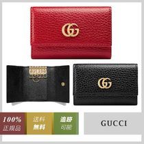 GUCCI GG Marmont Unisex Plain Leather Special Edition Keychains & Bag Charms
