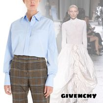 GIVENCHY Casual Style Long Sleeves Plain Cotton Medium Office Style