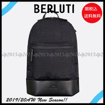 Berluti Nylon Blended Fabrics A4 Leather Backpacks