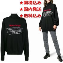 VETEMENTS Casual Style Unisex Wool Long Sleeves Long Oversized