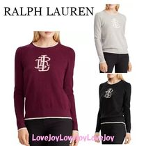 Ralph Lauren Crew Neck Casual Style Cashmere Long Sleeves Medium