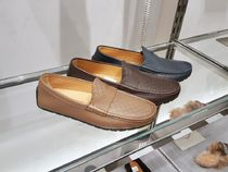 GUCCI Driving Shoes Moccasin Loafers Leather Logo