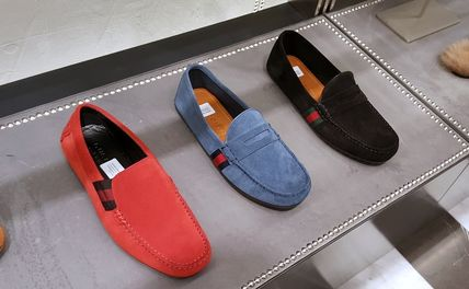 Driving Shoes Moccasin Loafers Suede Plain