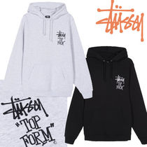 STUSSY Sweat Street Style Long Sleeves Plain Medium Puff Sleeves
