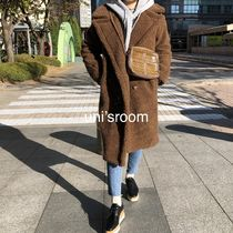 Faux Fur Plain Medium Oversized Eco Fur Shearling