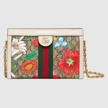 GUCCI Ophidia Flower Patterns Casual Style Leather Party Style
