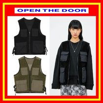 OPEN THE DOOR Unisex Street Style Plain Cotton Vests