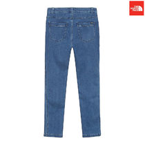 THE NORTH FACE Argile Unisex Denim Street Style Plain Bold Cropped Pants