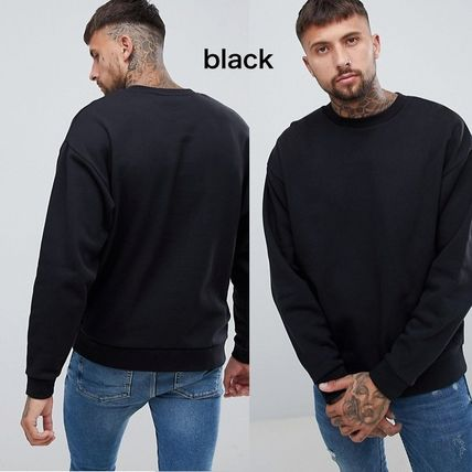 ASOS Sweatshirts Pullovers Unisex Sweat Street Style Long Sleeves Plain 8