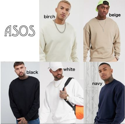 ASOS Sweatshirts Pullovers Unisex Sweat Street Style Long Sleeves Plain