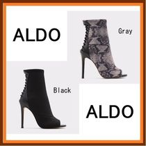 ALDO Open Toe Casual Style Plain Pin Heels Party Style Python