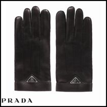 PRADA Cashmere Leather Leather & Faux Leather Gloves