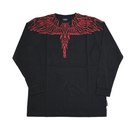 Marcelo Burlon Long Sleeve Crew Neck Pullovers Street Style Long Sleeves Cotton