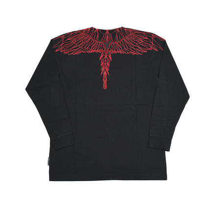 Marcelo Burlon Long Sleeve Crew Neck Pullovers Street Style Long Sleeves Cotton 3