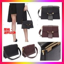 STRATHBERRY Blended Fabrics 2WAY Chain Leather Elegant Style Handbags