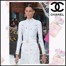 CHANEL Blended Fabrics Long Sleeves Medium With Jewels