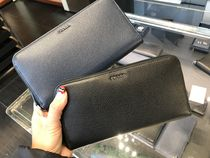 PRADA Bi-color Plain Leather Handmade Long Wallet  Long Wallets