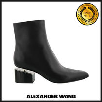 Alexander Wang Plain Leather Ankle & Booties Boots