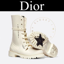 Christian Dior Mountain Boots Round Toe Lace-up Casual Style