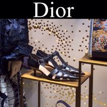 Christian Dior Star Casual Style Street Style Plain Leather Pin Heels