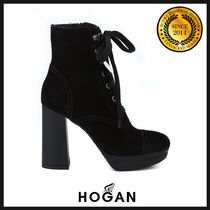 HOGAN Suede Plain Ankle & Booties Boots