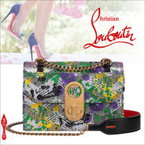 Christian Louboutin Calfskin 3WAY Chain Leather Crossbody Logo Shoulder Bags