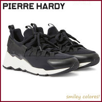 Pierre Hardy Casual Style Suede Low-Top Sneakers