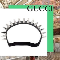 GUCCI Casual Style Blended Fabrics Studded Street Style Leather