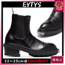 Eytys Rubber Sole Street Style Plain Leather Elegant Style