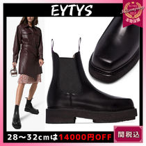 Eytys Rubber Sole Street Style Plain Leather Chelsea Boots