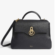 Mulberry Seaton Casual Style 2WAY Plain Leather Office Style Crossbody Logo