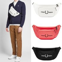 FRED PERRY Unisex Street Style Plain Shoulder Bags