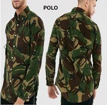 POLO RALPH LAUREN Camouflage Corduroy Street Style Long Sleeves Cotton Shirts