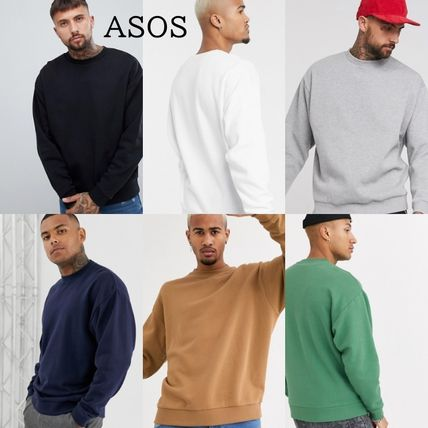 ASOS Sweatshirts Crew Neck Sweat Blended Fabrics Street Style Long Sleeves