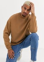 ASOS Sweatshirts Crew Neck Sweat Blended Fabrics Street Style Long Sleeves 14