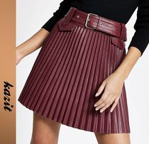 River Island Faux Fur Pleated Skirts Skirts