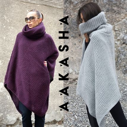 Wool Plain Medium Handmade Ponchos & Capes