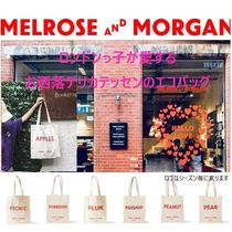 Melrose and Morgan Unisex Canvas A4 Plain Shoppers