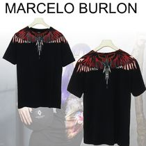 Marcelo Burlon Crew Neck Cotton Short Sleeves Crew Neck T-Shirts