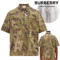 Burberry Pullovers Camouflage Monogram Cotton Short Sleeves Shirts
