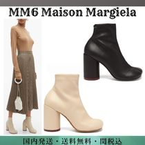 MM6 Maison Margiela Round Toe Casual Style Faux Fur Block Heels